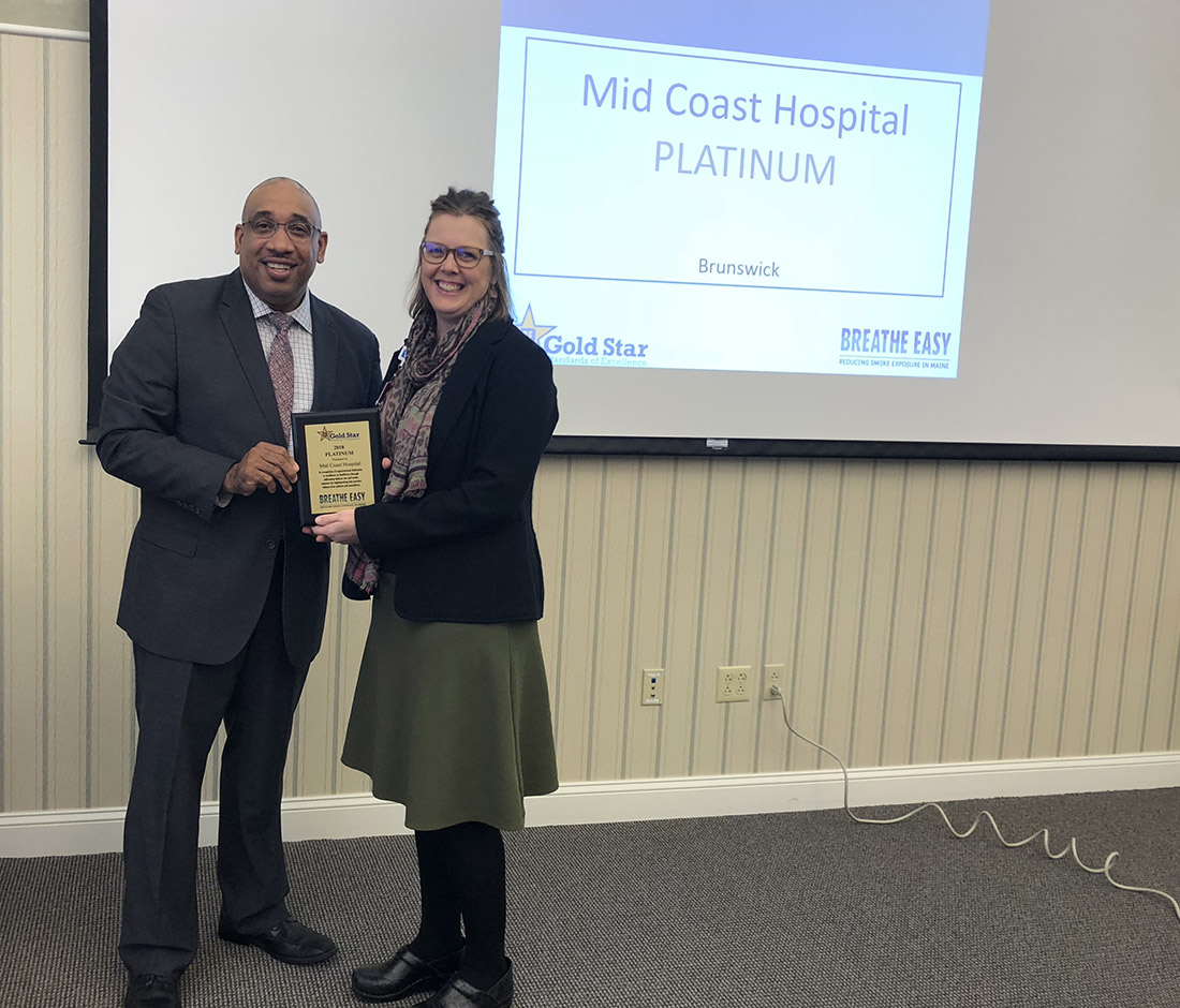 Mid Coast Hospital Receives Top Award for Tobacco-Free Achievements