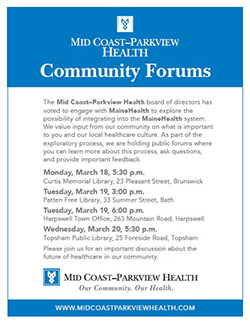 Mid Coast–Parkview Health Community Forums