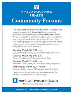 Mid Coast–Parkview Health Community Forums